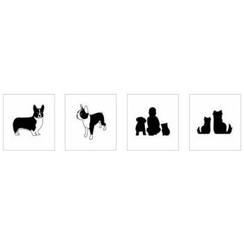 犬|シルエット イラストの無料ダウンロードサイト「シルエットAC」