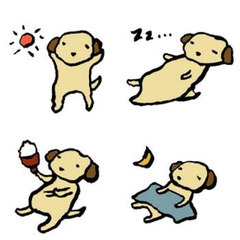 犬(家)の手書きイラスト <無料> | イラストK