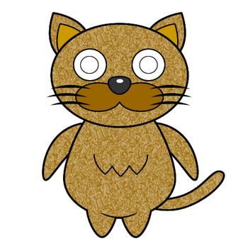 ネコのイラスト(5)|フリー素材 イラストカット.com