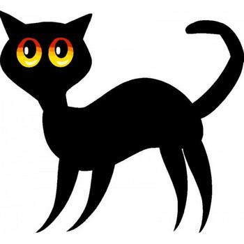 無料ベクタークリップアート。クールな黒猫のイラスト素材 - All Free Clipart +