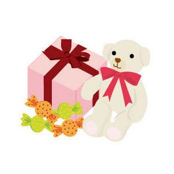 ホワイトデーのくまとプレゼントのイラスト | イラスト素材パラダイス 商用利用無料のイラスト素材