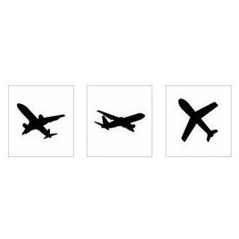 飛行機|シルエット イラストの無料ダウンロードサイト「シルエットAC」