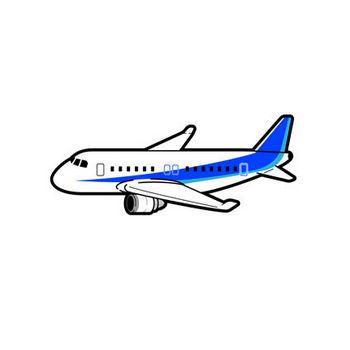 飛行機のイラスト|空を飛ぶ乗り物|素材のプチッチ