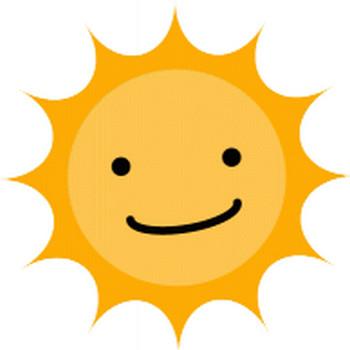 太陽のイラスト イラスト無料配布!商用利用可・リンクフリー|Frogs Art