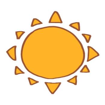 太陽のイラスト | かわいいフリー素材が無料のイラストレイン