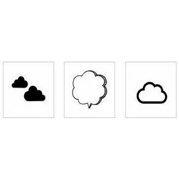 雲|シルエット イラストの無料ダウンロードサイト「シルエットAC」