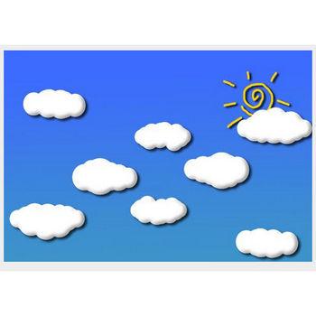 雲と太陽のイラストの画像 - ジーソザイ