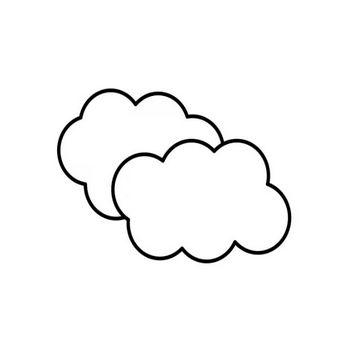 雲の白黒イラスト | かわいい無料の白黒イラスト モノぽっと
