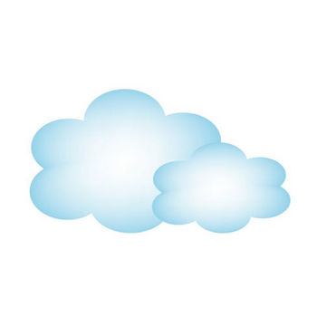 雲・クラウド・空・天気イラスト素材05 | イラスト無料・かわいいテンプレート