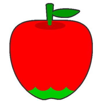 リンゴのイラスト|フリー素材 イラストカット.com
