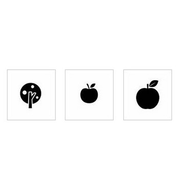 りんご|シルエット イラストの無料ダウンロードサイト「シルエットAC」