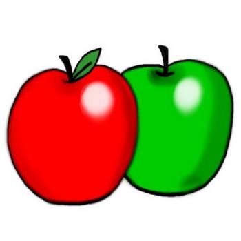 りんごのイラスト - 無料イラストのIMT 商用OK、加工OK