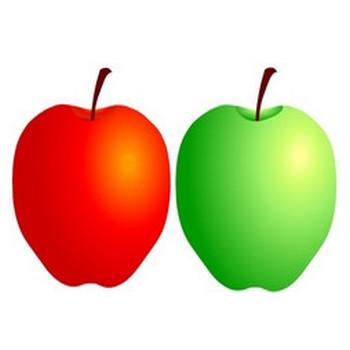 無料イラスト素材屋 「SATUKI晴れ」 Free materials and illustrations: リンゴのイラストです☆apple・林檎・りんご!