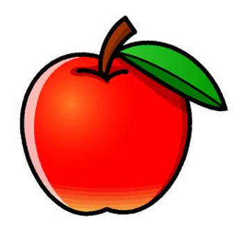 リンゴのイラスト|かわいいフリー素材、無料イラスト|素材のプチッチ