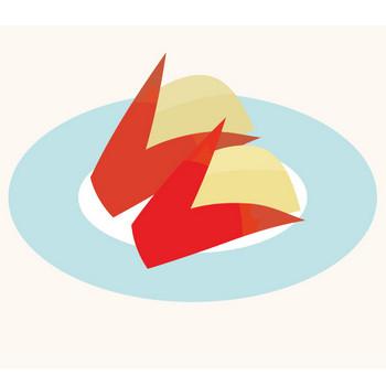 かわいい♪りんご(林檎)の飾り切り うさぎのイラスト | 商用フリー(無料)のイラスト素材なら「イラストマンション」