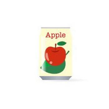 缶ジュース 林檎 - フリーイラスト素材 「趣味で作ったイラストを配るサイト」