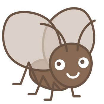 かわいい鈴虫(すずむし)のイラスト素材 | 無料フリーイラスト素材集【Frame illust】
