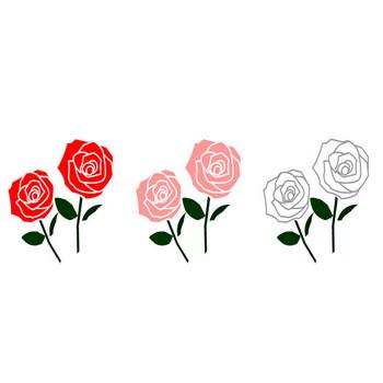 薔薇(バラ)のイラスト・フリー素材