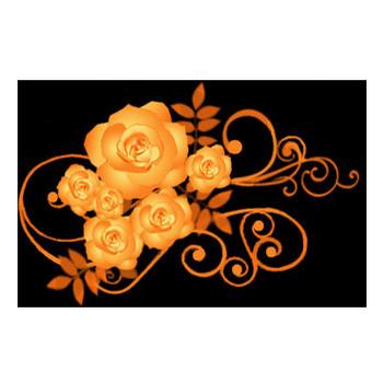薔薇-バラ イラスト黒背景用 画像フリー素材 無料素材倶楽部