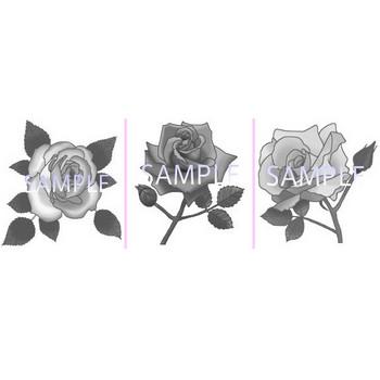 バラの花1/薔薇・ばら【お花と季節のお礼状】無料イラスト素材