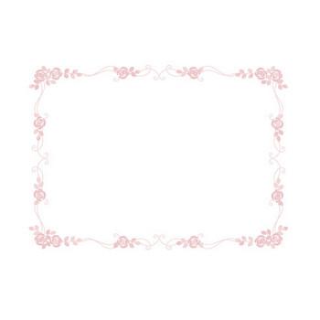 枠・飾り枠・飾り罫・飾り線(おしゃれな薔薇デザイン)無料イラスト素材