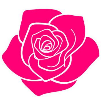 バラの花の無料素材31   花、植物イラスト Flode illustration (フロデイラスト)
