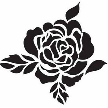 無料!バラのシルエット&お花のイラスト素材 - Free-Style