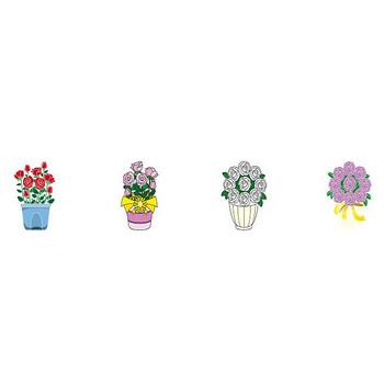 鉢植え-花の無料イラスト素材-イラストポップ