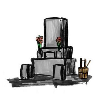 お墓参りの墓地イラスト | 無料イラスト配布サイトマンガトップ