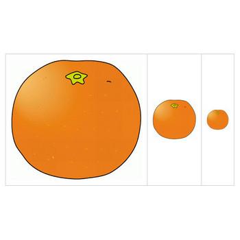みかん、オレンジのイラスト素材