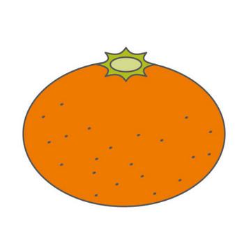 みかん/蜜柑|オレンジ|無料イラスト|配布サイト|クリップアート素材