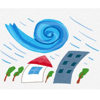 台風のイラスト(自然災害) | かわいいフリー素材集 いらすとや