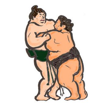 相撲(力士)のイラスト:手書きPOPやイラストの無料素材:So-netブログ