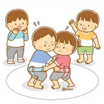 【クリップアート】相撲とこどものイラスト : 子供と動物のイラスト屋さん(イラストレーターわたなべふみ)のブログ