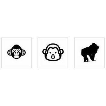 サル シルエット イラストの無料ダウンロードサイト「シルエットAC」