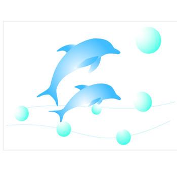 イルカのイラスト//商用利用・加工利用可能な無料フリーイラストアイコン素材集 -エムスタジオ-