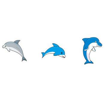 動物素材もイラストポップ | イルカとシャチのイラストが無料