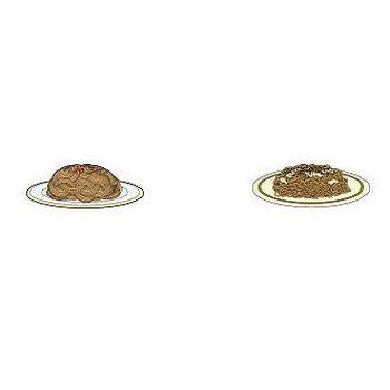 お好み焼き、たこ焼き、焼きそばなど粉物のクリップアート-無料イラスト素材のイラストポップ