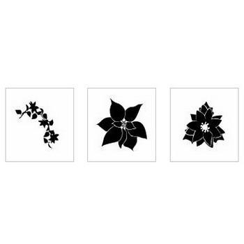 ポインセチア|シルエット イラストの無料ダウンロードサイト「シルエットAC」
