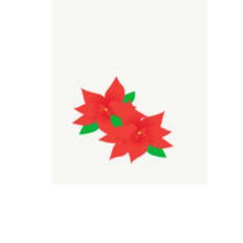 ポインセチア: 素材庭園(フリーイラスト素材集) ~花・動物・食べ物・人物・雑貨他