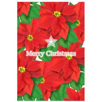 クリスマスカードポインセチア 無料素材 ダウンロード | ペーパーミュージアム