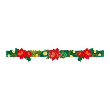 クリスマスのライン(ポインセチア)無料イラスト58165 | 素材Good