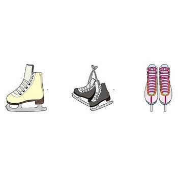 スケートの無料イラスト(輪郭線有り)-イラストポップのスポーツクリップアートカット集
