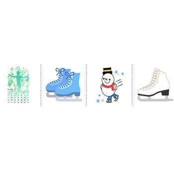「スケート」イラスト無料