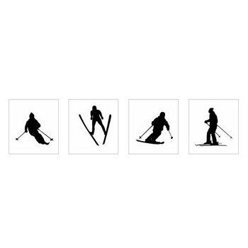 スキー|シルエット イラストの無料ダウンロードサイト「シルエットAC」