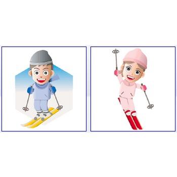 スキー用品イラスト