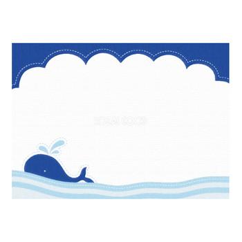 かわいい海波に浮くクジラポップな背景フレームイラスト無料フリー29847 | 素材Good