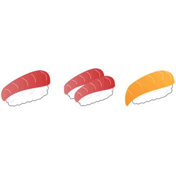 寿司(すし)のイラスト素材