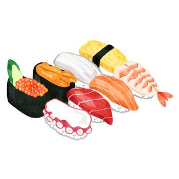 お寿司 | フリーイラスト素材 イラストラング