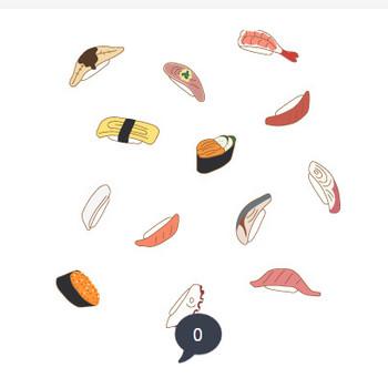 寿司の背景パターン | 無料イラスト素材集|Lemon